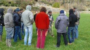 Frédéric Thomas anime la formation TCS agriculture de conservation lors de la formation dans le cadre du réseau Auvergne Rhône-Alpes.