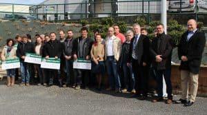 Les responsables agriculteurs lauréats du Challenge cuma, en Aveyron, en 2018.