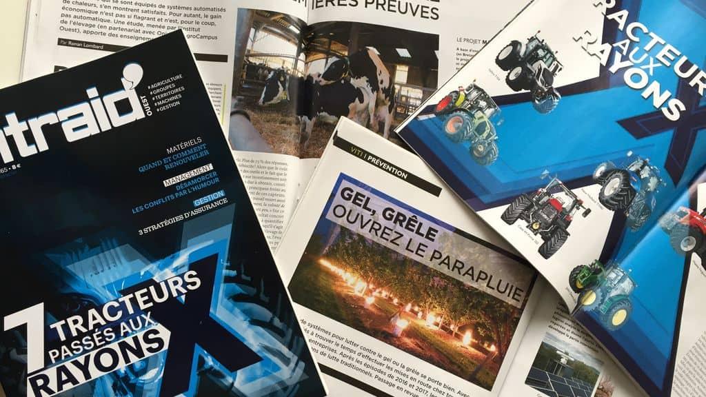 Entraid Magazine mars 2018 Rayons X tracteurs mensuel articles investissements, décote, méthode de calculs