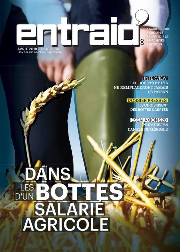 Entraid magazine avril 2018 : chaussez vos bottes et mettez vous à la place de salariés agricoles avec l'enquête.