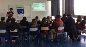Intervention des animateurs de la fdcuma du Lot auprès d'élèves de lycées et établissements agricoles.