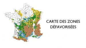 carte, zones défavorisées, agricole, agriculture, ICHN