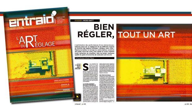 Entraid' magazine L'art du réglage de sa moiss-batt' avec Entraid' : édito et sommaire du magazine Entraid' du mois de juin 2018