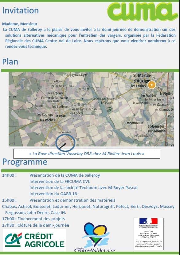 Démonstration-matériels-arboricoles-programme