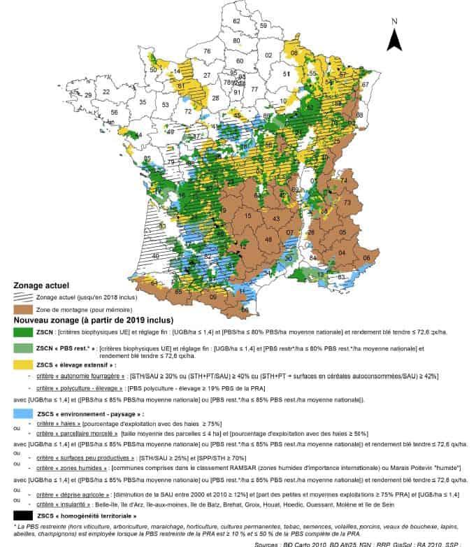 Cliquez pour agrandir la carte des zones défavorisées.