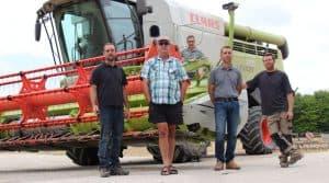 moissons 2018 cuma des Sources Marne : matériel de la cuma qui réduit les 5 chantiers de récolte à une moisson