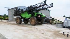 plateforme de lavage agricole, accessibilité plateforme
