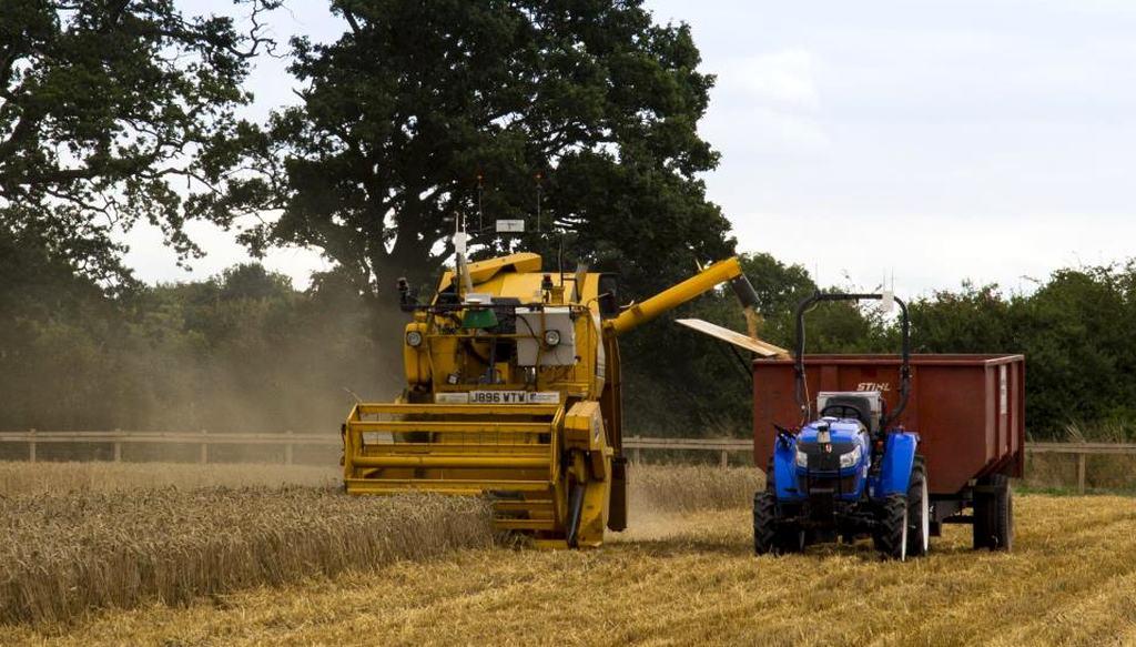 Cultiver du blé avec des robots, Hands Free Hectare vidange