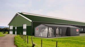 Transformation du lait à la ferme Lely Orbiter est directement reliée aux robots de traite.