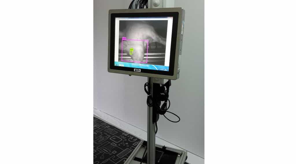 Vue du système de détection de l'étourdissement développé en collaboration avec les instituts.