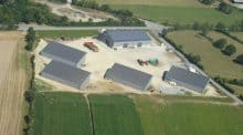 centrales photovoltaïques sur les hangars, cinq bâtiments de la cuma sont groupés