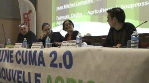 La table ronde sur le numérique, organisée par la fédération des cuma Landes-Béarn-Pays Basque