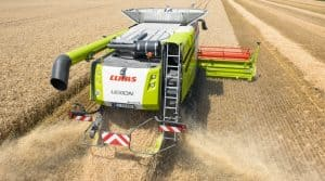 destruction des graines d'adventices : moissonneuse Claas