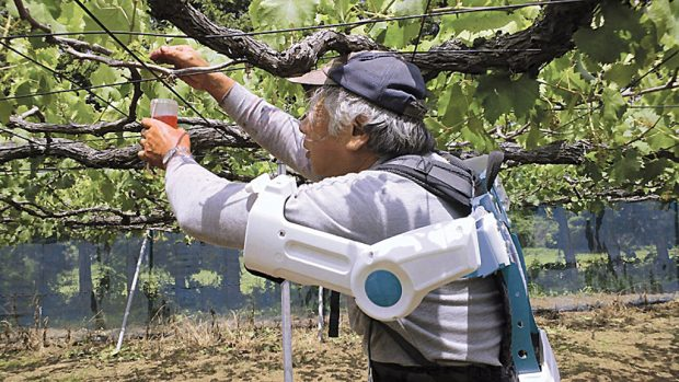 agriculture au futur exosquelette
