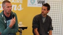 Les deux intervenants invité au cabaret du salon de Retiers