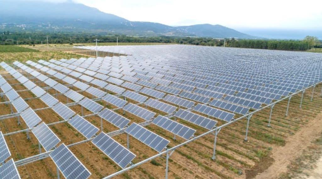 Vigne sous panneaux solaires : Image Sun'R du premier site mondial de démonstration de l'agrivoltaisme.