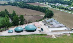 Site de la première unité de méthanisation agricole en injection de la région Occitanie.