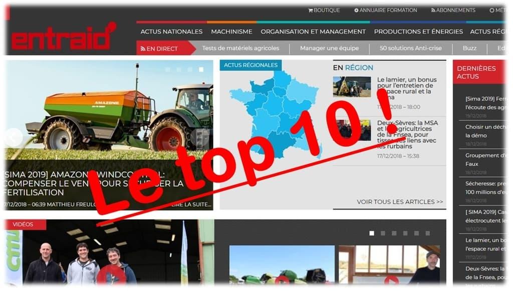 Top10 2018 site entraid