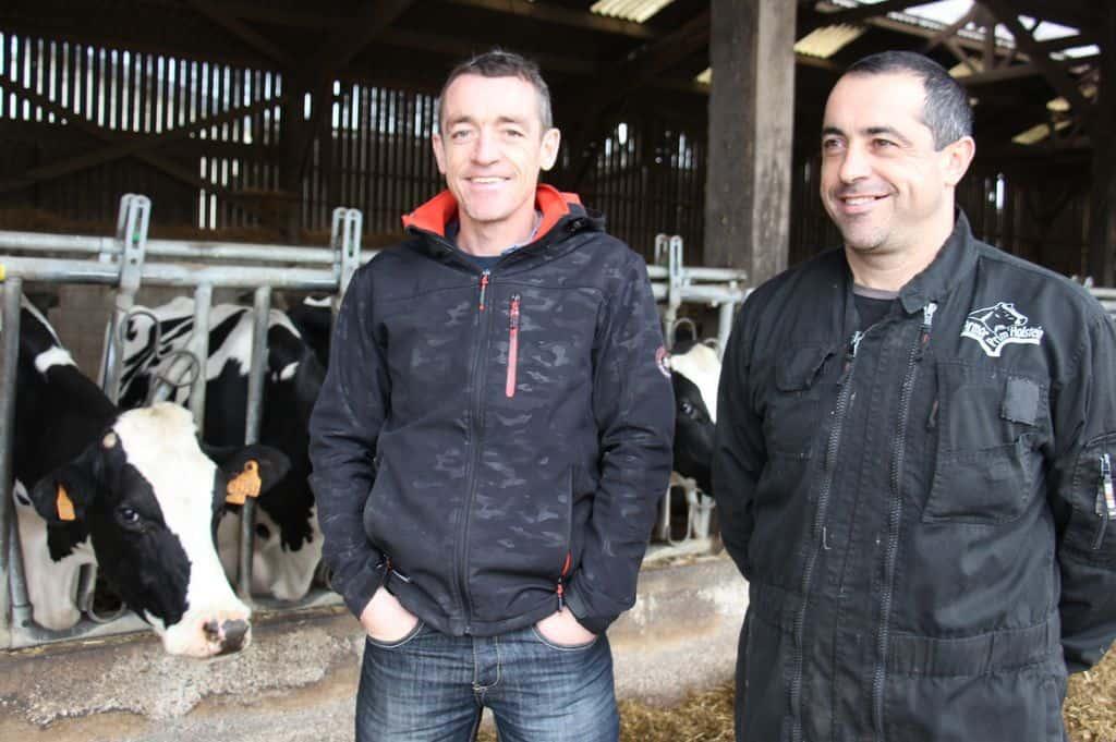 Deux des trois éleveurs bretons