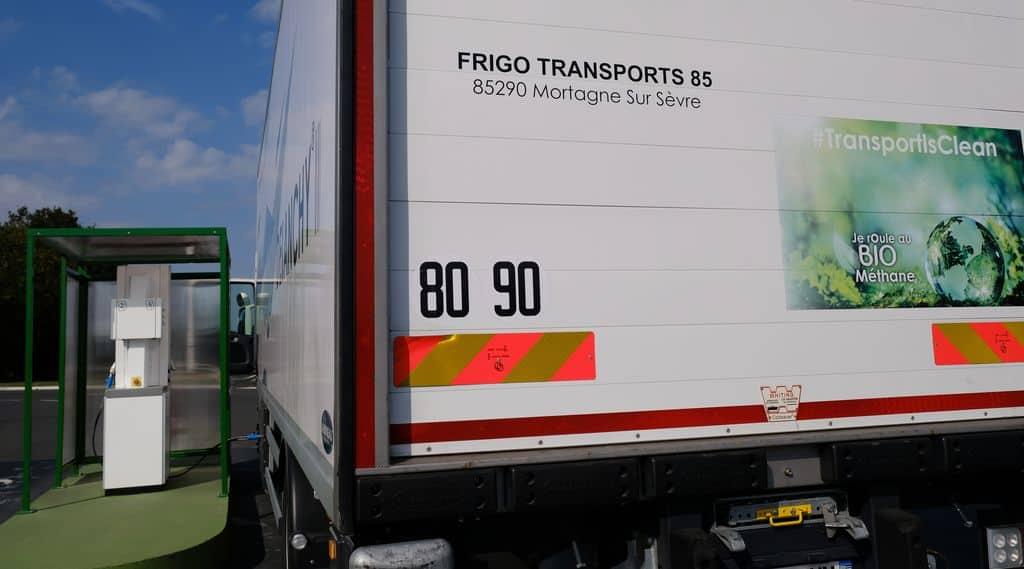 distribution de bioGNV, Agribiométhane, camions