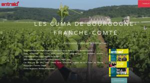 carte interactive des cuma de Bourgogne Franche-Comté