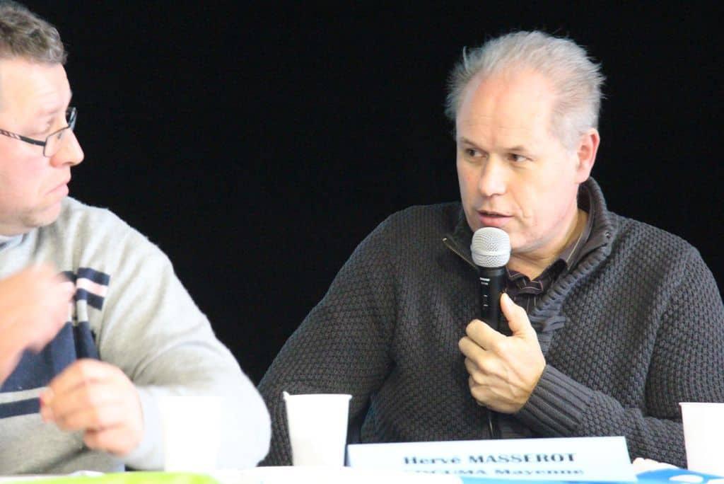 Hervé Masserot au micro