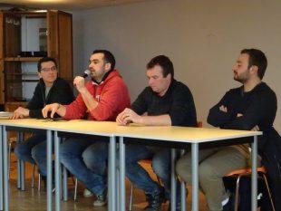 De gauche à droite : Guilhem Rudelle, Charles Guizard, Guillaume Gaven et Quentin Enjalbert.