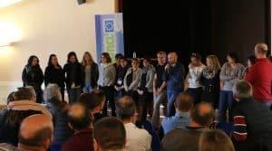 L'équipe de la fédérations, salariés et administrateurs, ont mené un travailavec les responsables de cuma lors des réunions de secteur.