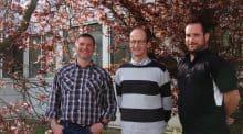 Les trois présidents à la tête des instances de cuma en Normandie