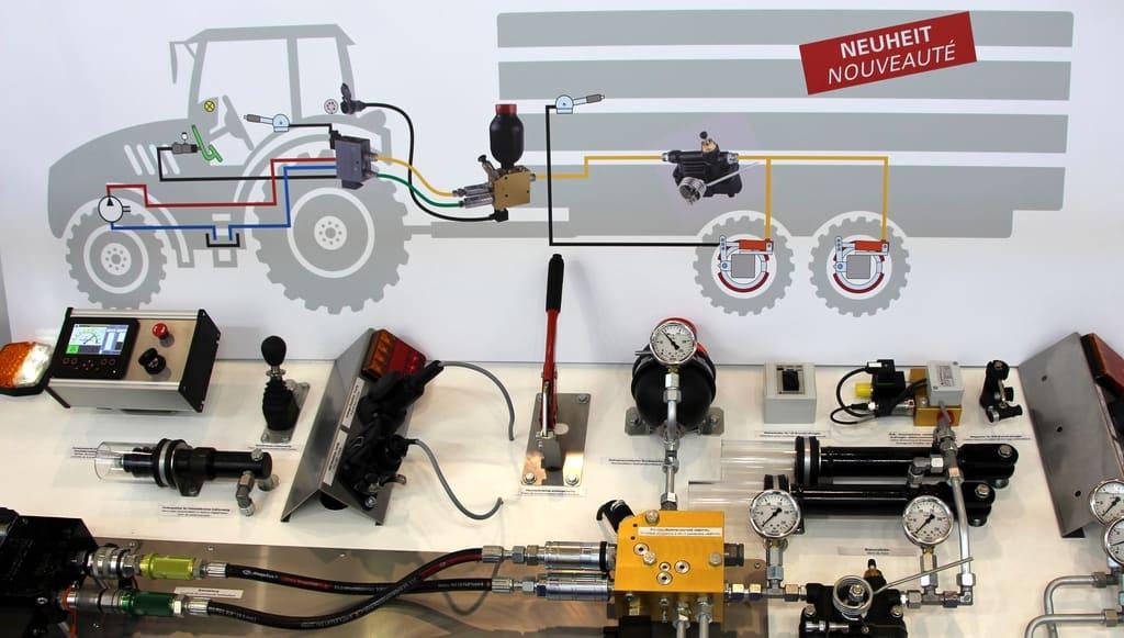 freinage hydraulique à double ligne, frein Paul Forrer