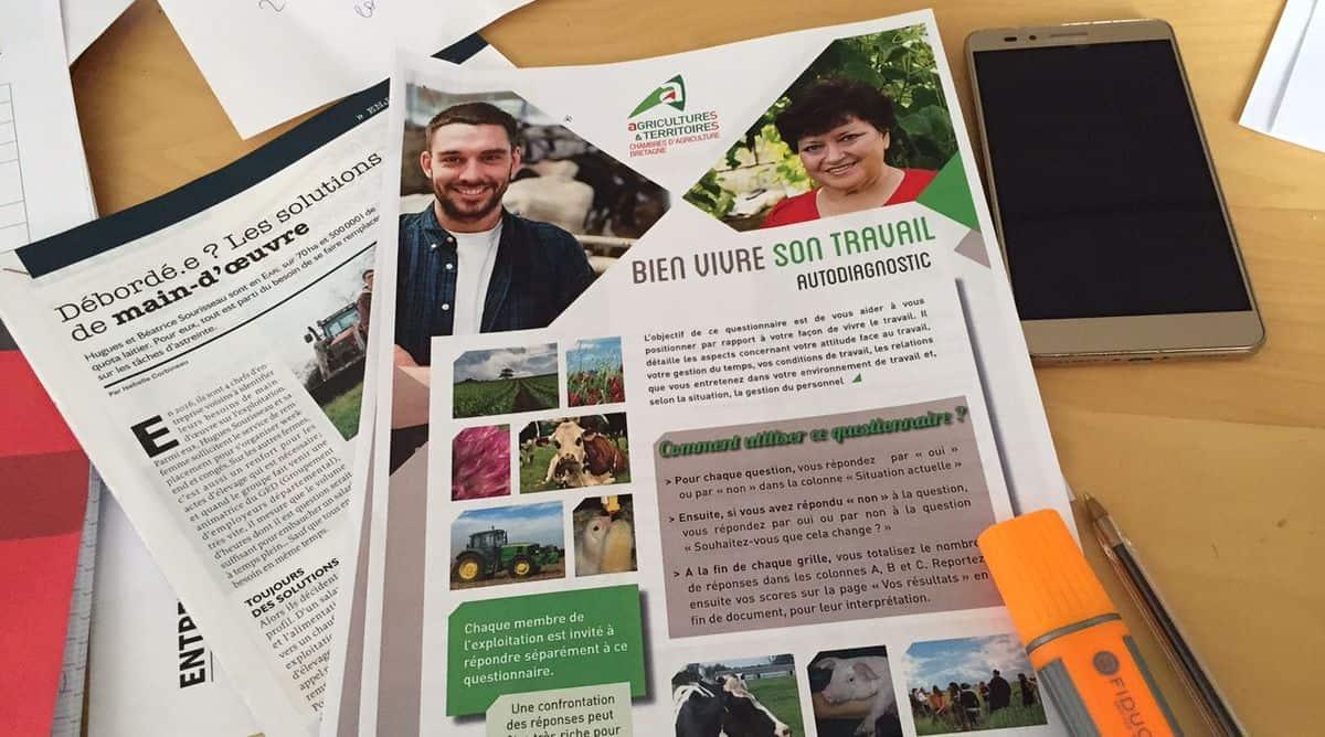 Un test d'autodoagnostic pour les agriculteurs et les salariés agricoles, sur la qualité de vie au travail.