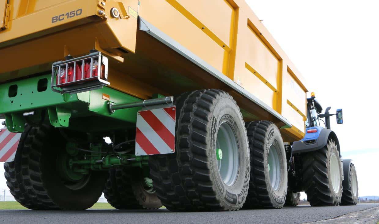 freinage intelligent New Holland, tracteur remorque