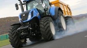 freinage d'un tracteur en urgence