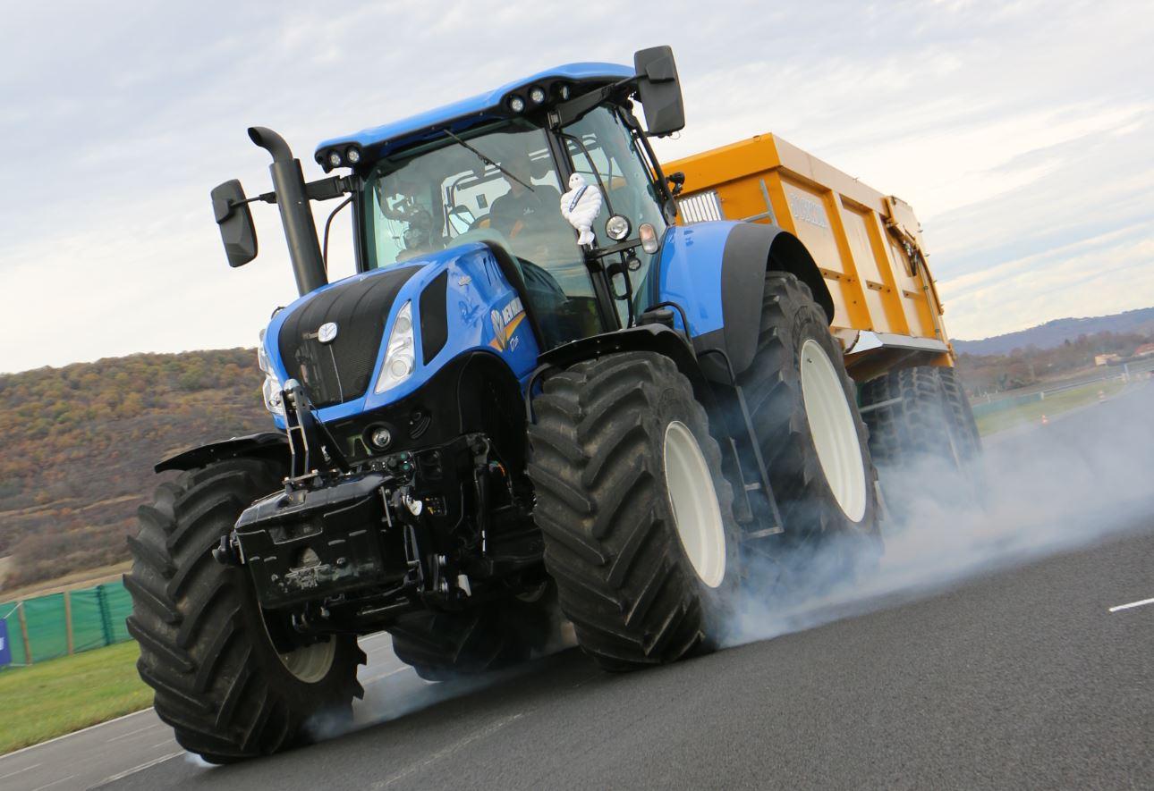 Essai freinage urgence tracteur