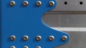 Rampe de pulvérisateur Lemken assemblée par rivets