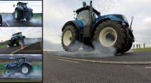 Freinage urgence tracteur agricole distance arret