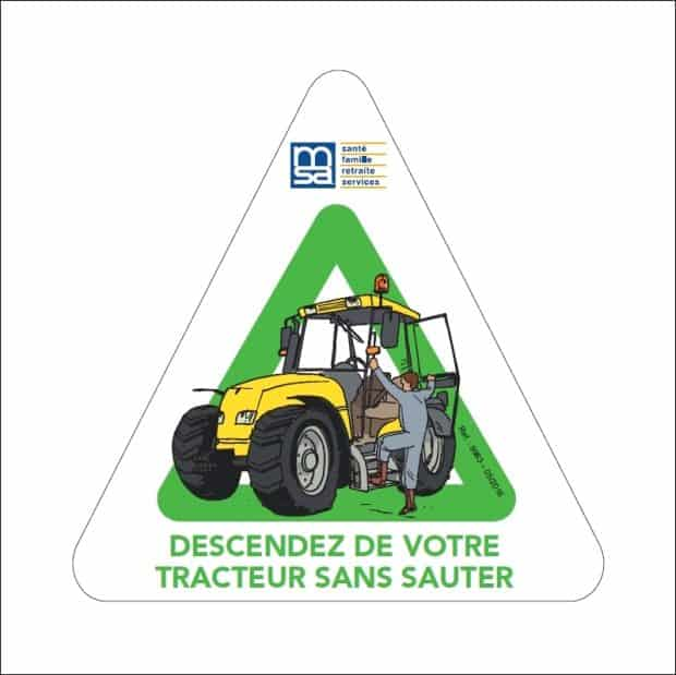 prévention : campagne msa chute du tracteur