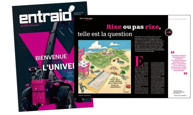 Prix éditorial snpar magazine entraid rose