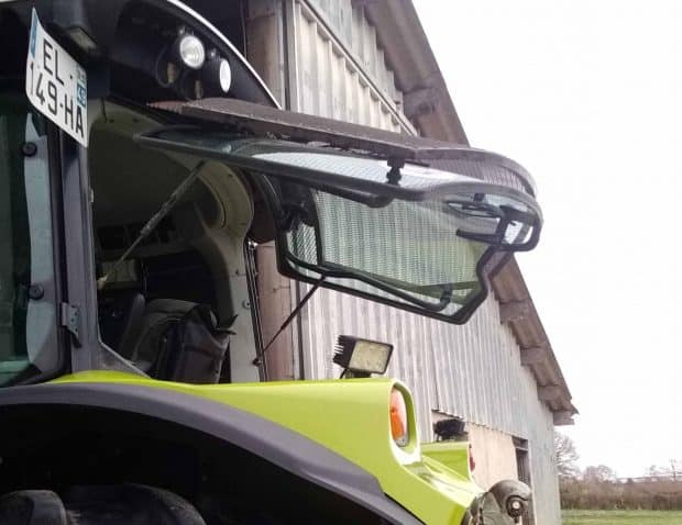astuce invention protection vitre cabine tracteur
