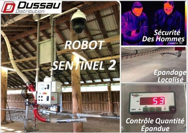 robot de paillage Dussau Sentinel 2