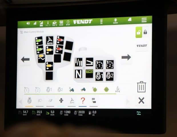 interface conduite tracteurs Fendt 700 Vario