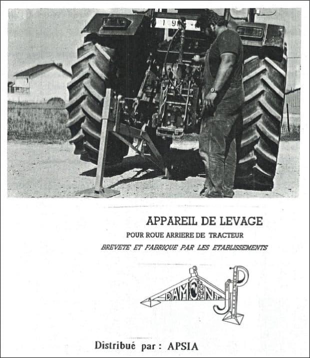relevage leve tracteur JP Damont