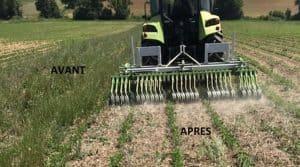 Un matériel destiné à réduire le travail du sol pour gérer le salissement en AB.
