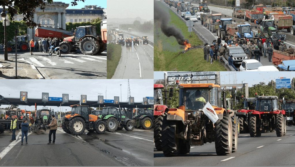 blocage routier manifestation agriculteurs agribashing