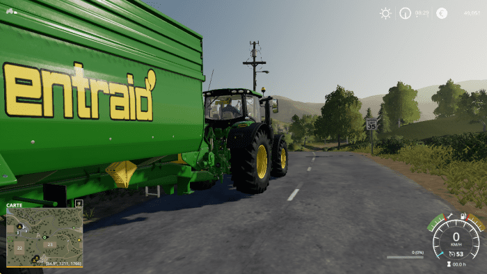 Entraid Tracteur John Deere 6230R Farming Simulator 2019.