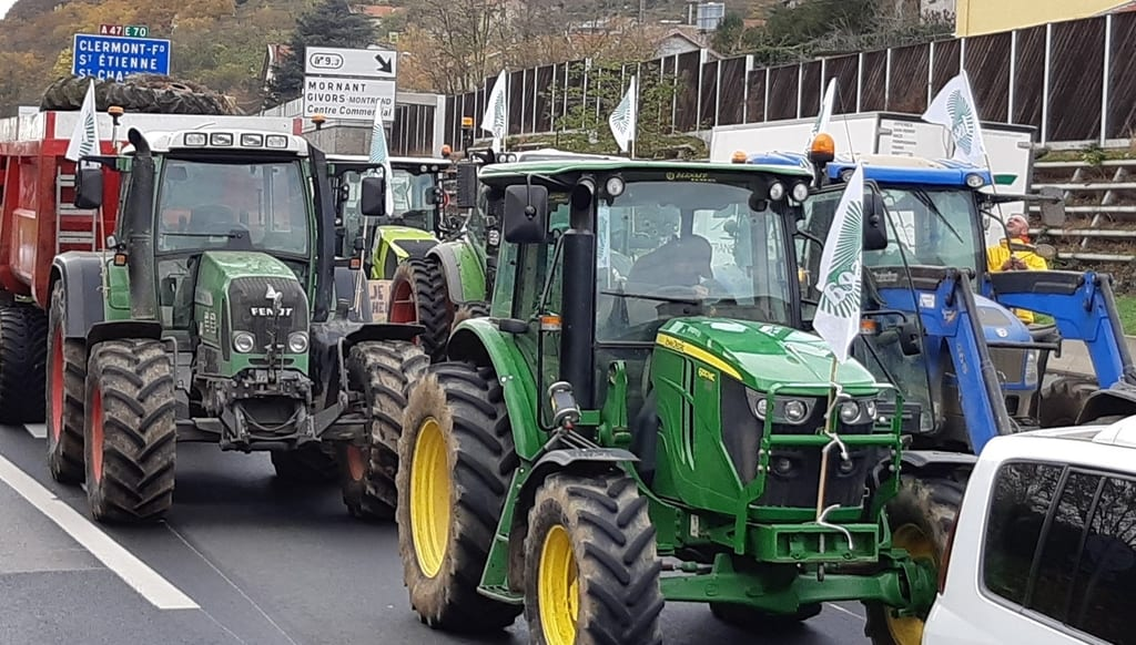 manifestation agriculteurs Fdsea Ardèche