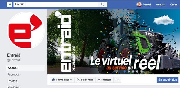 Page facebook Entraid'