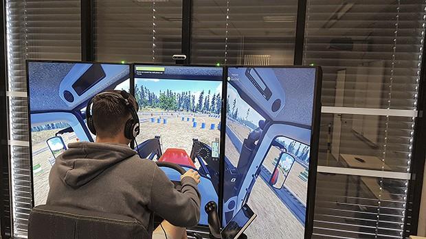 simulateur de conduite - tracteur