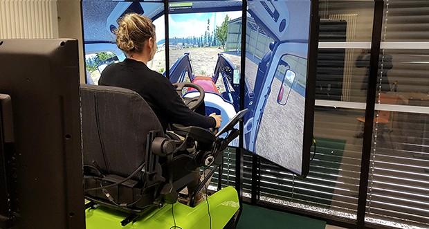 simulateur de conduite tracteur