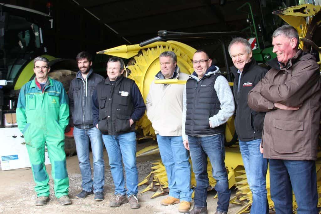 Les responsables du réseau des cuma morbihannais organisait une conférence de presse à Séglien en février.